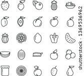 thin line vector icon set  ... | Shutterstock .eps vector #1369536962