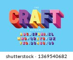 vector of stylized modern font... | Shutterstock .eps vector #1369540682