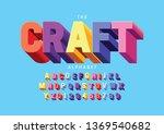vector of stylized modern font... | Shutterstock .eps vector #1369540682