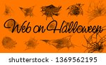 collection of cobweb  isolated... | Shutterstock .eps vector #1369562195