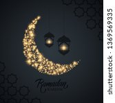 ramadan kareem greeting card... | Shutterstock .eps vector #1369569335