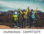 epic adventure of hiker do... | Shutterstock . vector #1369571675