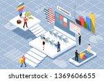 online teamwork concept banner...   Shutterstock .eps vector #1369606655