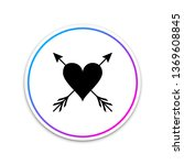 heart with arrow icon isolated... | Shutterstock .eps vector #1369608845