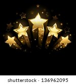 Five Shining Stars Of Gold Foil ...