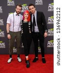 Small photo of LOS ANGELES - APR 14: Paramore arrives to the Mtv Movie Awards 2013 on April 14, 2013 in Culver City, CA.