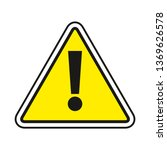 warning sign. exclamation sign... | Shutterstock .eps vector #1369626578