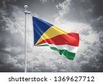 3d rendering of seychelles flag ... | Shutterstock . vector #1369627712