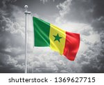 3d rendering of senegal flag is ... | Shutterstock . vector #1369627715
