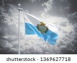 3d rendering of san marino flag ... | Shutterstock . vector #1369627718