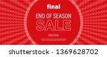 horizontal sale vector banner... | Shutterstock .eps vector #1369628702