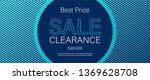 horizontal sale vector banner... | Shutterstock .eps vector #1369628708