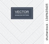 vector seamless geometric... | Shutterstock .eps vector #1369635605