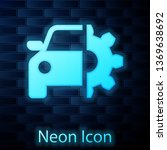 glowing neon car service icon... | Shutterstock .eps vector #1369638692