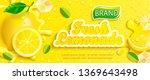 fresh lemonade banner with... | Shutterstock .eps vector #1369643498