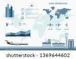 airline infographics. graphs... | Shutterstock .eps vector #1369644602