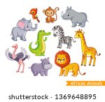 Vector Set With African Animal...