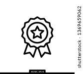 medal icon vector illustration... | Shutterstock .eps vector #1369659062
