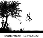 editable vector silhouette of...