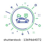 parking with video monitoring... | Shutterstock .eps vector #1369664072