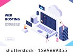web hosting concept. cloud... | Shutterstock .eps vector #1369669355