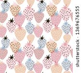 seamless pattern with creative... | Shutterstock .eps vector #1369676555
