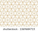 the geometric pattern with... | Shutterstock . vector #1369684715