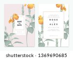 botanical wedding invitation... | Shutterstock .eps vector #1369690685