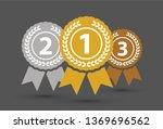 top three medals | Shutterstock .eps vector #1369696562