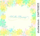 abstract spring summer... | Shutterstock .eps vector #1369703855