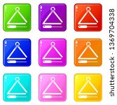musical triangle icons set 9... | Shutterstock .eps vector #1369704338