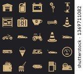 petrol station icons set.... | Shutterstock .eps vector #1369711082