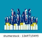 big family business. concept... | Shutterstock .eps vector #1369715495