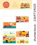 mini games collections. cut and ... | Shutterstock .eps vector #1369719035