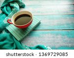 close up of a cup of coffee and ... | Shutterstock . vector #1369729085