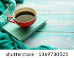 close up of a cup of coffee and ... | Shutterstock . vector #1369730525