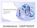 creative website template of... | Shutterstock .eps vector #1369732025