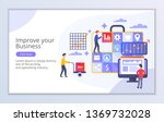 creative website template of... | Shutterstock .eps vector #1369732028