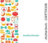 healthy lifestyle background... | Shutterstock .eps vector #1369733108