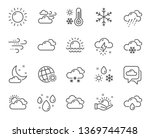 weather and forecast line icons.... | Shutterstock .eps vector #1369744748