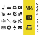 melody icons set with music... | Shutterstock .eps vector #1369748435