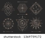 vector set of sacred geometric... | Shutterstock .eps vector #1369759172
