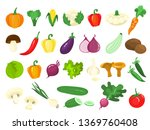 set of vegetables. fresh... | Shutterstock .eps vector #1369760408