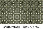 brown and green vintage floral... | Shutterstock . vector #1369776752