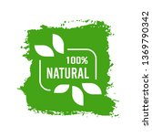 natural organic product. flat... | Shutterstock .eps vector #1369790342