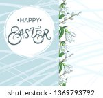 happy easter. banner with... | Shutterstock .eps vector #1369793792