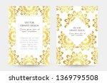 golden floral motif. stylish... | Shutterstock .eps vector #1369795508