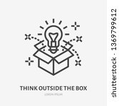 think outside the box flat line ... | Shutterstock .eps vector #1369799612