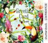 Greeting Floral Vintage Card...