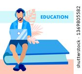 education  knowledge gaining... | Shutterstock .eps vector #1369805582